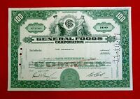 1970 GENERAL FOODS CORPORATION COMMON STOCK CERTIFICATE DELAWARE T7U