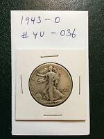 1943-D WALKING LIBERTY SILVER HALF DOLLAR  YOU GRADE IT  AS PICTURED YU-036
