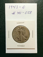 1943-D WALKING LIBERTY SILVER HALF DOLLAR  YOU GRADE IT  AS PICTURED YU-028