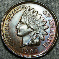 1907 INDIAN CENT PENNY       STUNNING DETAILS      B370 MSQ
