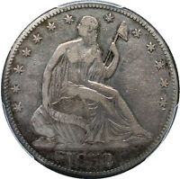 1852 O SEATED HALF DOLLAR WB 2 ORIGINAL GRAY  KEY DATE   PCGS VF20