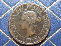 1881 SPUR ON N VARIETY CANADIAN LARGE PENNY LOT B12/10/15C