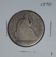 1870 SILVER SEATED LIBERTY HALF DOLLAR    1