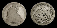 UNITED STATES 1856 SILVER HALF DOLLAR SEATED LIBERTY GOOD 4