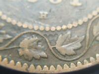 1881 H BEAD DIE CLASH CANADIAN LARGE PENNY QUEEN VICTORIA OLD BRONZE COIN LOT BD