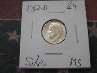 1962 D BU SILVER DIME TAKEN FROM MINT SET NICE COIN A