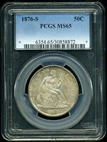 1876 S 50C LIBERTY SEATED HALF DOLLAR MS65 PCGS