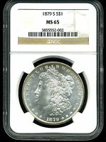 1879-S $1 MORGAN SILVER DOLLAR MINT STATE 65 NGC 3855552-002