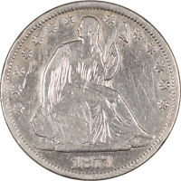 1871 S LIBERTY SEATED HALF DOLLAR DECENT EXAMPLE WITH ISSUES STRONG DETAILS