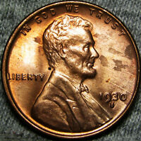 1930-S LINCOLN CENT WHEAT CENT ---- STUNNING  ---- B704