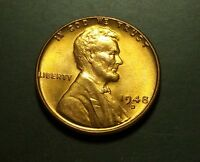 1948 D LINCOLN WHEAT PENNY UNCIRCULATED  W19732