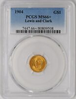 1904 $ GOLD LEWIS & CLARK DOLLAR MINT STATE 66 PCGS