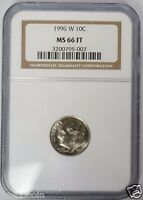 1996 W 10C ROOSEVELT DIME NGC MS66 FT FULL TORCH