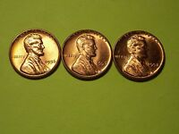 1956,1957,1958 P LINCOLN WHEAT CENT PENNY SET OF 3   @@@LOOK@@@