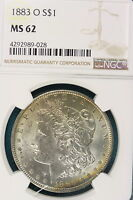 1883 O NGC MS62 MORGAN SILVER DOLLAR GU