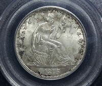 1875 S SEATED LIBERTY HALF DOLLAR SMALL S WB 101 PCGS MS65