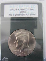 2000 P KENNEDY HALF DOLLAR 50 CENT COIN PHILADELPHIA MINT MS FULL STRIKE