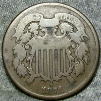 1871 TWO CENT PIECE 2 CENT PIECE  ---- TYPE COIN LOW MINTAGE ---- H441