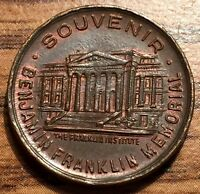 1706  1790 BENJAMIN FRANKLIN MEMORIAL SOUVENIR COPPER TOKEN