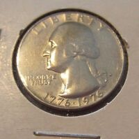 1776 1976 D WASHINGTON QUARTER 25C