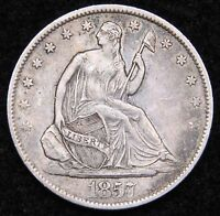1857 O SEATED LIBERTY HALF DOLLAR 50 CENTS. KEY DATE 818,000 MINTED 50811