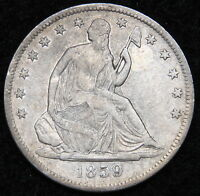 1859S SEATED LIBERTY HALF DOLLAR 50 CENTS   KEY DATE ONLY 566,000 MINTED 5089