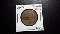 1865 TWO CENT PIECE 2C WITH LEAR COUNTERSTAMP
