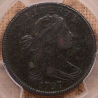 1797 S.127 R4 DRAPED BUST LARGE CENT, PCGS VF DET, ATTRACTIVE DAVIDKAHNCOINS