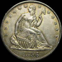 1856 SEATED LIBERTY HALF DOLLAR SILVER US TYPE COIN      STUNNING      R775