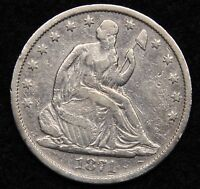 1871S SEATED LIBERTY HALF DOLLAR 50 CENTS. NICE COIN  5319