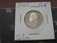 1992 S PROOF WASHINGTOSILVER QUARTER GREAT COIN AA1