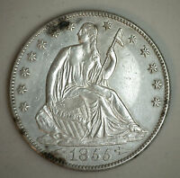 1855 O SEATED LIBERTY HALF DOLLAR SILVER US TYPE NEW ORLEANS COIN AU