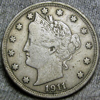 1911 LIBERTY V NICKEL CENT U.S. COIN -- TYPE COIN -- H554