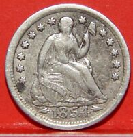 COLLECTOR'S SERIES       1854 SEATED LIBERTY HALF DIME W/ARROWS  AU CONDITION