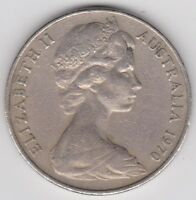 AUSTRALIA 1970 20 CENTS WORLD COIN KM366 NICE COIN   YOU GRADE   SEE SCANS