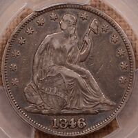 1846/HOR 6 WB 104 SEATED HALF PCGS XF40 PLEASING AND    DAVIDKAHNCOINS