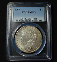 1900 MORGAN DOLLAR PCGS MS63   SHARP & TONED CHOICE UNCIRCULATED   5S33