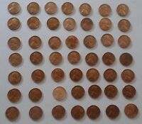 LOT OF 49 WHEAT PENNIES 1917 TO 1957   CURRENCY/COINS/CENTS/MONEY/LINCOLN