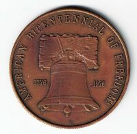 1776   1976 AMERICAN BICENTENNIAL OF FREEDOM LIBERTY BELL EAGLE MEDAL 39MM