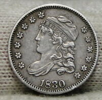 1830 CAPPED BUST HALF DIME H10C 5 CENTS   NICE OLD COIN   5522