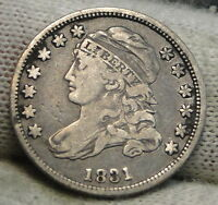1831 CAPPED BUST DIME 10C 10 CENTS   NICE OLD COIN   5487
