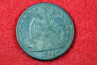 ESTATE FIND 1846 TALL DATE  SEATED LIBERTY HALF DOLLAR C0432