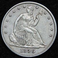 1856 SEATED LIBERTY HALF DOLLAR. 50 CENTS   KEY DATE 938,000 MINTED 5223