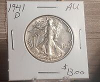 1941 D WALKING LIBERTY HALF DOLLAR  AU PRICED TO SELL
