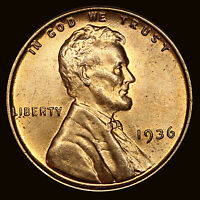 1936 P LINCOLN CENT  UNCIRCULATED BU VL2180