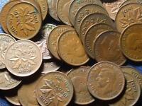1945 CANADIAN SMALL CENTS KING GEORGE VI        BUY ONE OR BUY THEM ALL