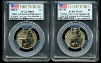2014 D $1 NATIVE AMERICAN ENHANCED SET MS69 PCGS FIRST STRIKE LOT OF 2