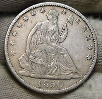 1850 O SEATED LIBERTY HALF DOLLAR 50 CENTS. SEMI KEY DATE   5676