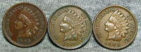 LOT OF 3 INDIAN HEAD CENT PENNIES 1903 1904 AND 1905        H841