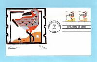 U.S. FDC 44914497  DAVE CURTIS CACHET - RED KNOT FROM COASTAL BIRDS SET